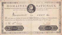 France 100 Livres Louis XVI - 19-06-1791 Série 5H - Sign. Lecointe - TTB