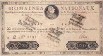 France 100 Livres Louis XVI - Faux assignat certifié - 19-06-1791 - TTB+