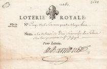 France 100 Livres Royal  Lottery -  Loterie Royale - 1705 - VF