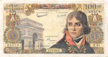 France 100 NF Bonaparte - 03-09-1959 - Serial E.34 - VF