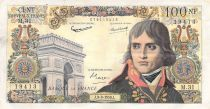 France 100 NF Bonaparte - 03-09-1959 - Serial M.31 - F to VF