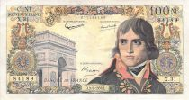 France 100 NF Bonaparte - 03-09-1959 - Serial X.31 - F to VF