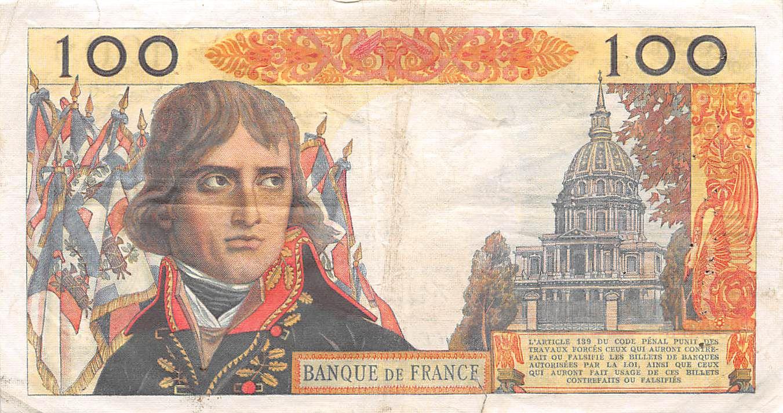 France 100 NF Bonaparte - 03-09-1959 - Série H.33 - PTTB