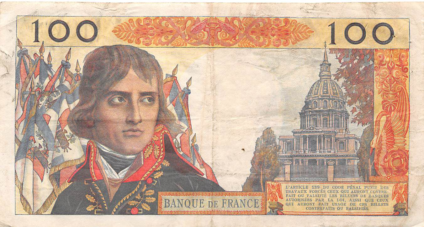 France 100 NF Bonaparte - 03-12-1959 - Serial P.42 - VF