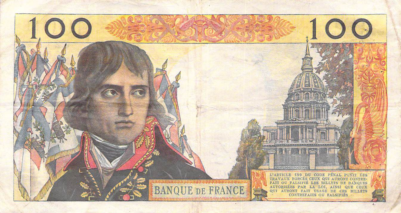 France 100 NF Bonaparte - 04-06-1959 - Serial C.19 - VF