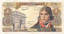 France 100 NF Bonaparte - 04-06-1959 - Serial D.11 - F to VF