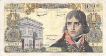 France 100 NF Bonaparte - 04-06-1959 - Serial Q.11 - F+