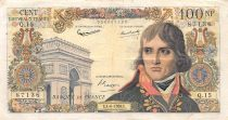 France 100 NF Bonaparte - 04-06-1959 - Serial Q.15 - F+