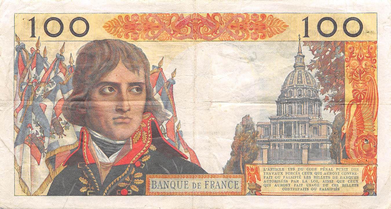 France 100 NF Bonaparte - 04-06-1959 - Série D.11 - PTTB