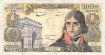 France 100 NF Bonaparte - 05-03-1959 - Serial A.9 - VG to F