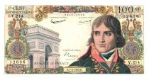 France 100 NF Bonaparte - 07-02-1963 Serial V.214 - VF+