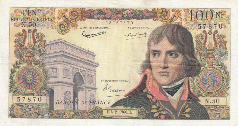 France 100 NF Bonaparte - N.50 - 1960
