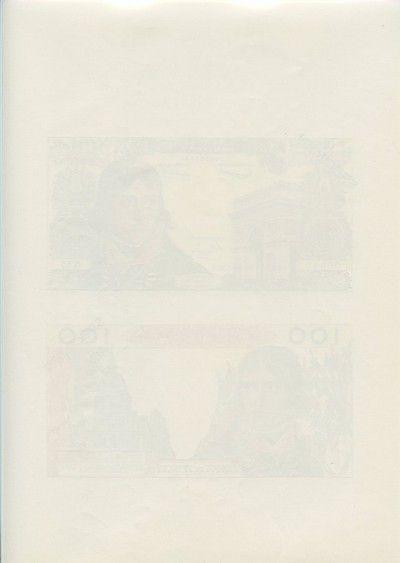 France 100 NF Bonaparte - Planche Spécimen - 1967