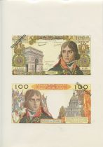 France 100 NF Bonaparte - Specimen sheet - 1967