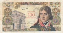 France 100 NF on 10000 Francs Bonaparte - 1958 Serial U.148 - VF