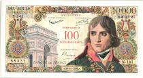 France 100 NF sur 10000 Francs - Bonaparte - 1958 N.141