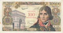 France 100 NF sur 10000 Francs Bonaparte - 1958 - W.150