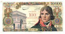France 100 NF sur 10000 Francs Bonaparte - 30-10-1958 Série K.151 - TTB