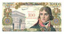 France 100 NF sur 10000 Francs Bonaparte - 30-10-1958 Série N.145 - TB+