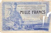 France 1000 F , Nantes (Loire-Inférieure) Coursable, Annulé par perforations