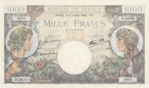 France 1000 Francs - 06-07-1944 Serial D.3620 - P.96c - UNC