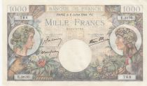 France 1000 Francs - 06-07-1944 Serial E.3620 - P.96c - UNC