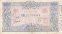 France 1000 Francs - 10-01-1923 - Serial U.1628 -  Fine