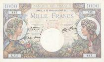 France 1000 Francs - 28-11-1940 Serial L.515 - VF - P.96