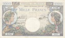 France 1000 Francs - 28-11-1940 Serial R.768 - F to VF - P.96
