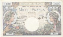 France 1000 Francs - 28-11-1940 Serial X.588 - VF - P.96