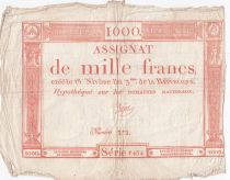 France 1000 Francs 18 Nivose An III - 7.1.1795 - Sign. Bajot