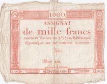 France 1000 Francs 18 Nivose An III - 7.1.1795 - Sign. Bajot