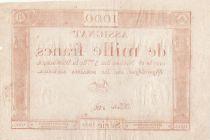 France 1000 Francs 18 Nivose An III - 7.1.1795 - Sign. Bert - TTB+