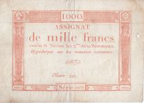 France 1000 Francs 18 Nivose An III - 7.1.1795 - Sign. Bertaut - F to VF