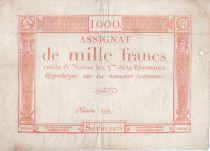 France 1000 Francs 18 Nivose An III - 7.1.1795 - Sign. Bertaut - PTTB