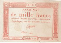 France 1000 Francs 18 Nivose An III - 7.1.1795 - Sign. Caproner