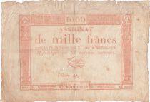 France 1000 Francs 18 Nivose An III - 7.1.1795 - Sign. Coupé - PTB