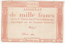 France 1000 Francs 18 Nivose An III - 7.1.1795 - Sign. Dubra