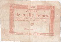 France 1000 Francs 18 Nivose An III - 7.1.1795 - Sign. Haze - TTB
