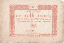 France 1000 Francs 18 Nivose An III - 7.1.1795 - Sign. Massé - TTB