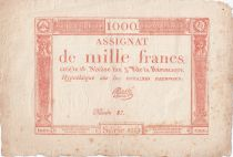 France 1000 Francs 18 Nivose An III - 7.1.1795 - Sign. Massé - VF