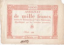 France 1000 Francs 18 Nivose An III - 7.1.1795 - Sign. Vial - VF