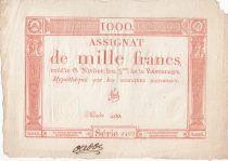 France 1000 Francs 18 Nivose An III - 7.1.1795 - Sign. Vial - VF