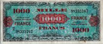 France 1000 Francs Allied Military Currency (France) - 1945 - Serial 2