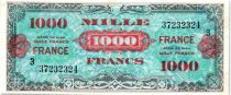 France 1000 Francs Allied Military Currency (France) - 1945 - Serial 3