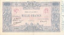 France 1000 Francs Blue on lilac - 01-06-1926 - Serial L.2411 - F to VF