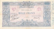 France 1000 Francs Blue on lilac - 06-10-1925 - Serial P.2048 - VF