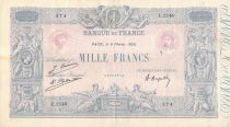 France 1000 Francs Blue on lilac - 08-02-1926 - Serial E.2149 - VF