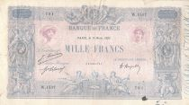 France 1000 Francs Blue on lilac - 09-03-1921 - Serial W.1537 -  F