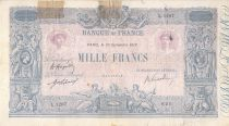 France 1000 Francs Blue on lilac - 10-09-1919 - Serial L.1297 -  G